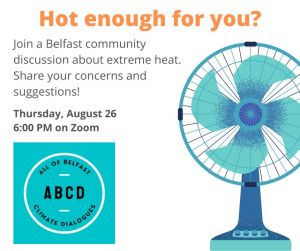 Belfast Maine community discussion on extreme heat